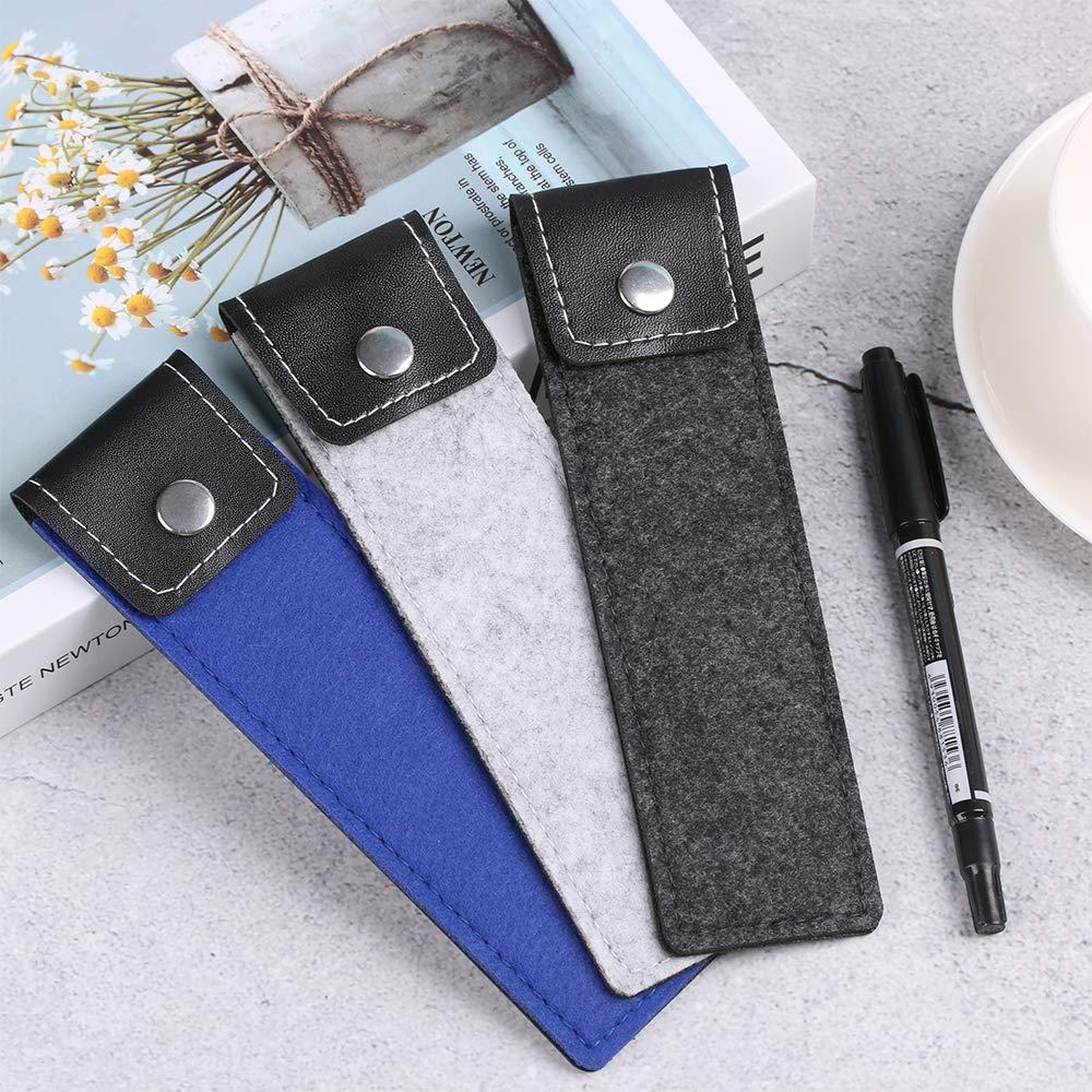 funda protectora de piel color gris Estuche para bol/ígrafos o l/ápices de fieltro para guardar bol/ígrafos o bol/ígrafos