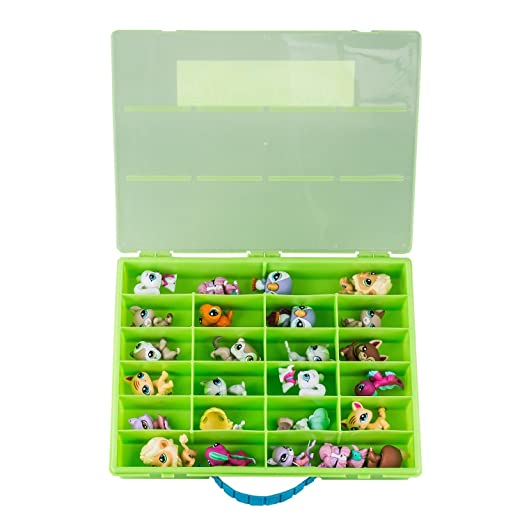 Amazon.es: Littlest Pet Shop Compatible Organizer Green/Lime - Fun for LifeTM is Pefect Compatible Storage Case for LPS- Fits up to 60 Characters by Fun For ...