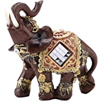 Hilitand Lucky Wealth Elephant Statua Scultura Feng Shui Wood Grain 3 Figurine Home Desktop Decorazione Regalo