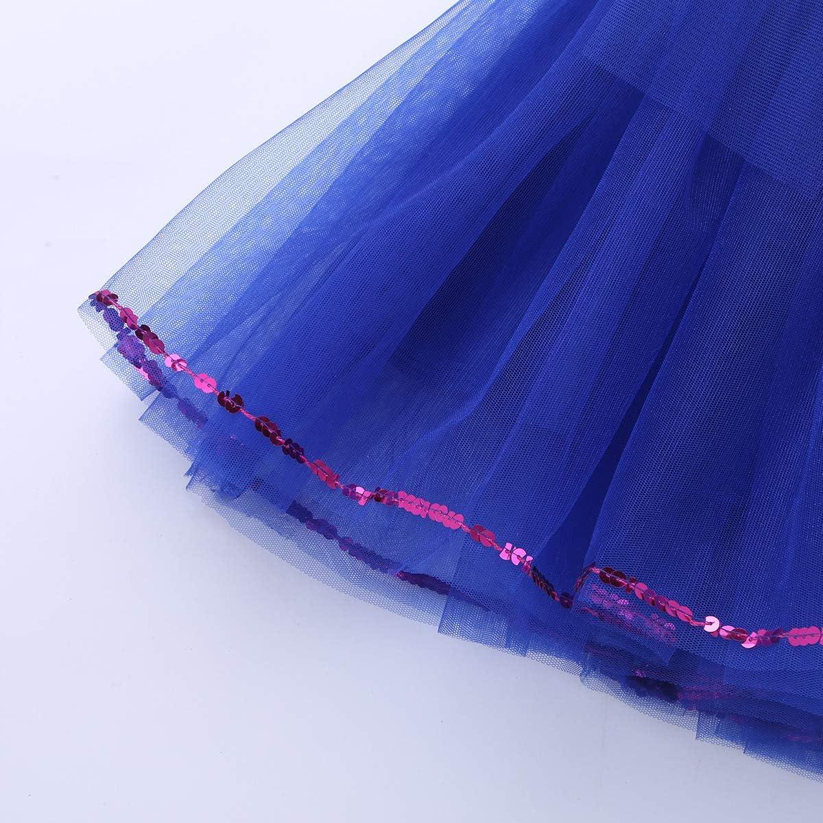 MSemis Enfant Fille Justaucorps Tutu de Danse Ballet Gymnastique Robe de Danse Classique Patinage Robe /à Paillettes Robe de Spectacle Costume 3-14 Ans