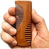 Lussuoso pettine da barba in legno | Beard Club | Il migliore pettine per barba e baffi da uomo | Denti per doppio utilizzo | Un pettine da taschino perfetto | Prodotto artigianalmente con i più elevati standard