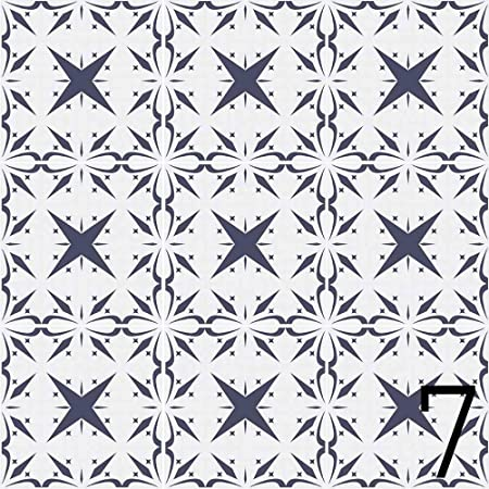 Whatabus Carrelage Azulejos 9 8 X 9 8 Cm 9 Motifs Differents Lot De Stickers Autocollants Design 7 9 Amazon Fr Cuisine Maison