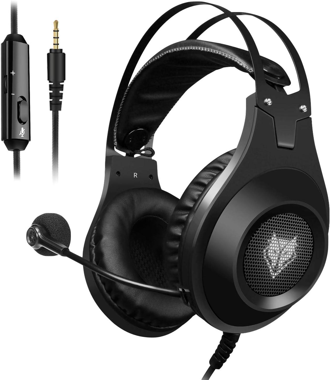 ELEGIANT Cuffie Gaming PC, Auricolari Headset per PS4 PS4 PRO Xbox One Mac Tablet con Microfono Isolamento del Rumore per iPhone XS XS Max XR x 8 iPad