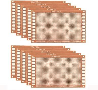 Jolicobo 10 Pcs Universal Breadboard Diy Prototype Paper Pcb Circuit Board Für Prototyping Und Elektronische Erstellung Von Projekten Auto