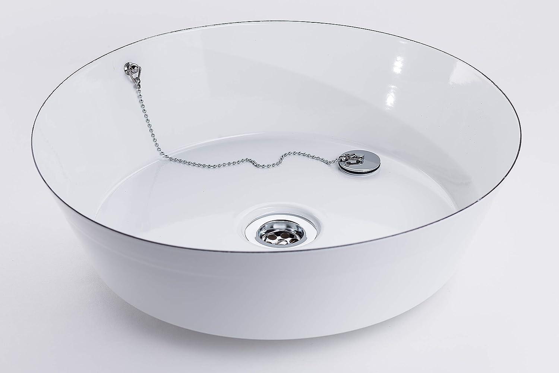 Premium Emaille Waschbecken FANNI  viele Farben, Designs & Logo