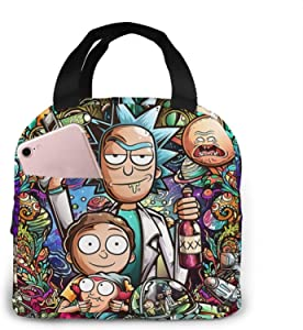 Rick And Morty Lunch Box Tote Lunch Bag Insulated Portable Game Lunch Box Handbags For Adults Women Men Teens