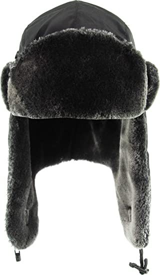 a32b3458367 Amazon.com  KBW-601 BLK Solid Aviator Trooper Trapper Hat Winter Cap ...