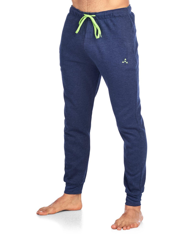 Balanced Tech Men's Jersey Knit Jogger Lounge Pants - Ottoman Ribbed Navy Heather - Medium