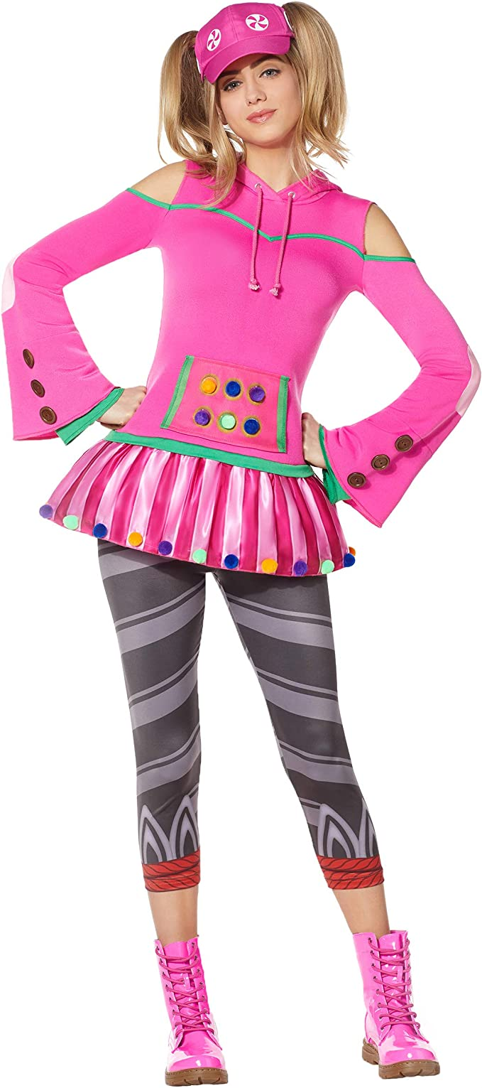 Spirit Halloween Adult Zoey Fortnite Costume | Officially Licensed