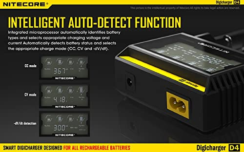 Nitecore D4 – Best 4 Bay 18650 Battery Charger