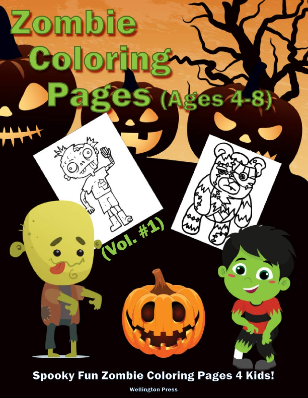 Image result for Zombie Coloring Pages (Vol. #1): Spooky Fun Zombie Coloring Pages 4 Kids!