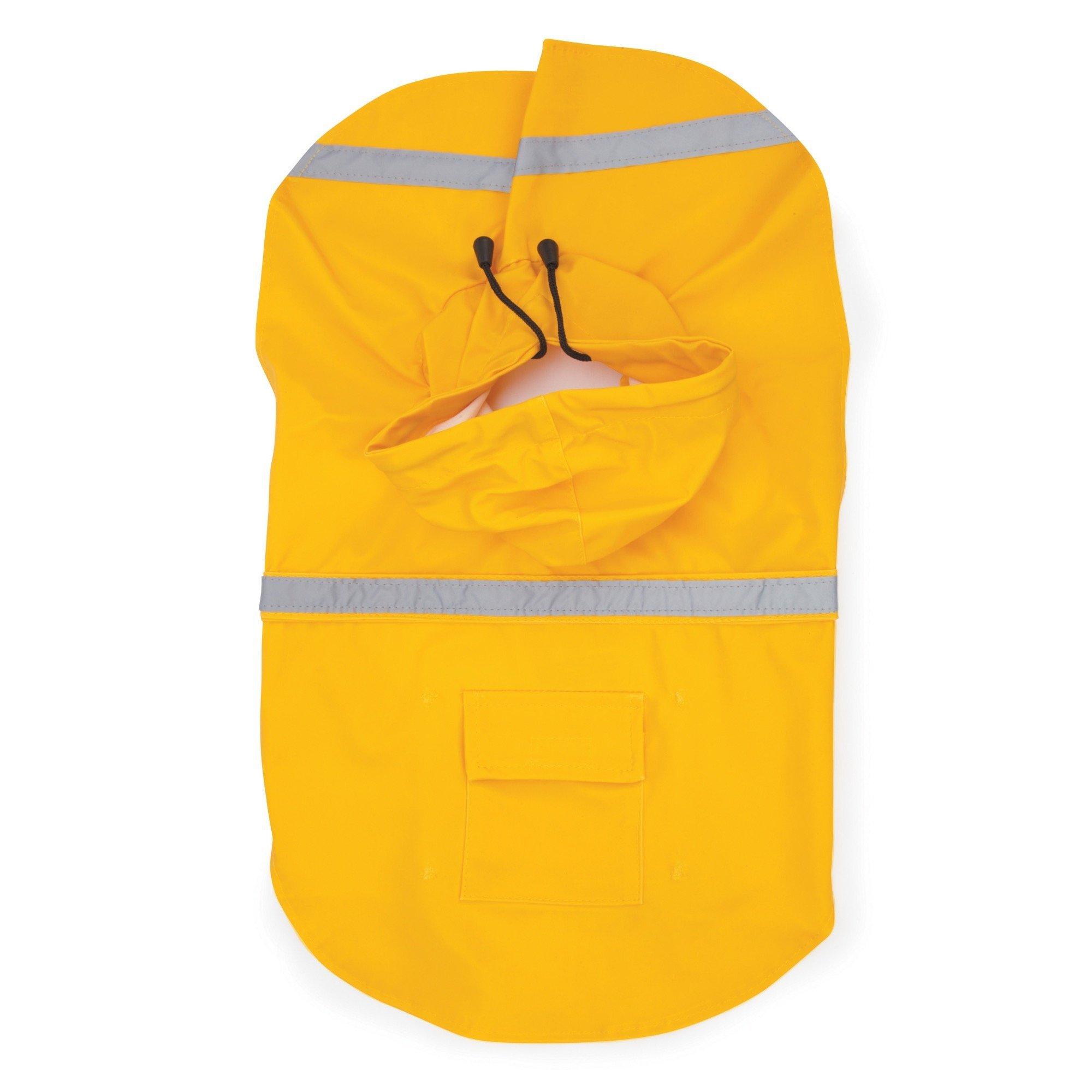 Guardian Gear Dog Raincoat Reflective Rain Jacket for Dogs Yellow Small/Medium