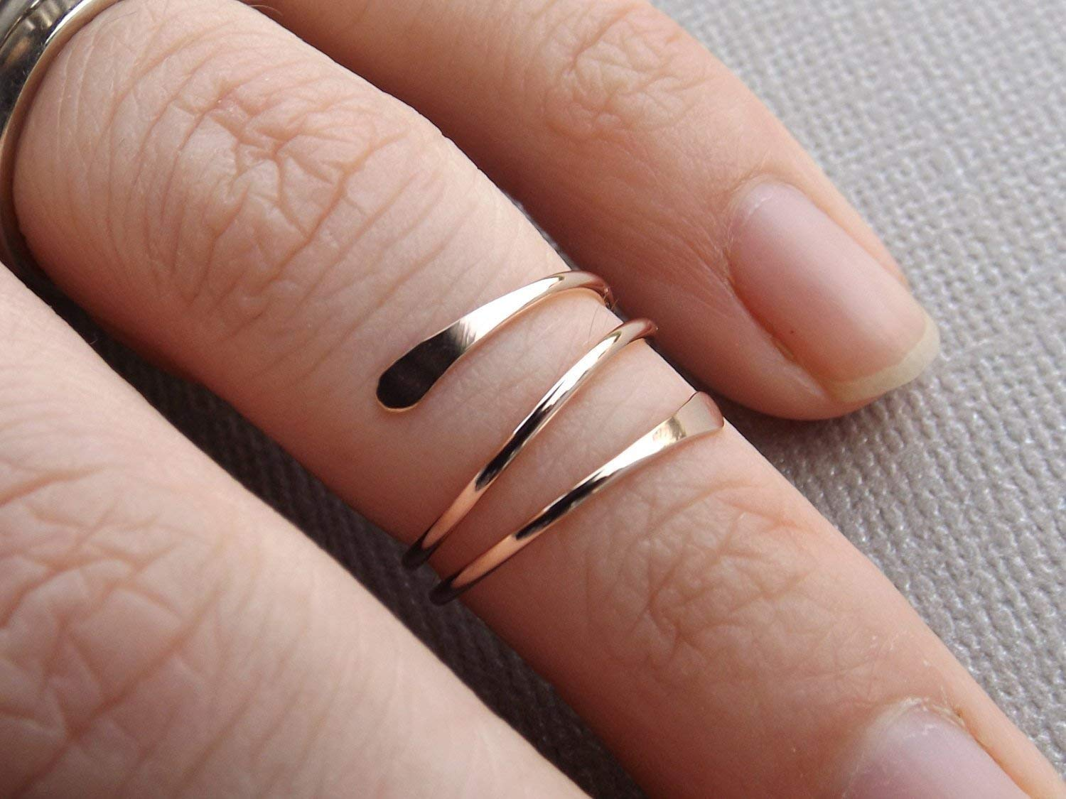 14k Gold or Rose Fill Knuckle Ring, Knuckle Rings,Mid Rings,Above knuckle ring, Toe Rings, Rings, Rose or Gold Fill Knuckle Ring …