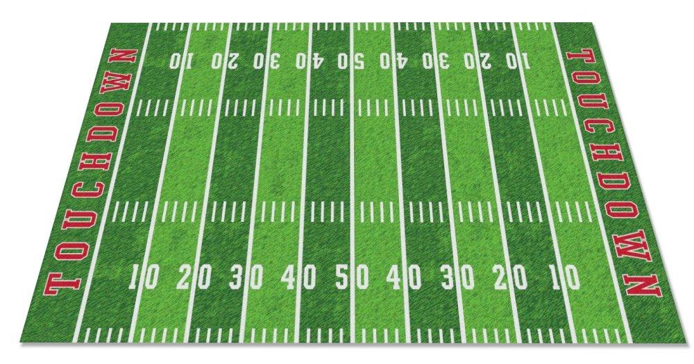 Kid Carpet FE796-44A Football Field Nylon Area Rug, 7'6'' x 12', Multicolored