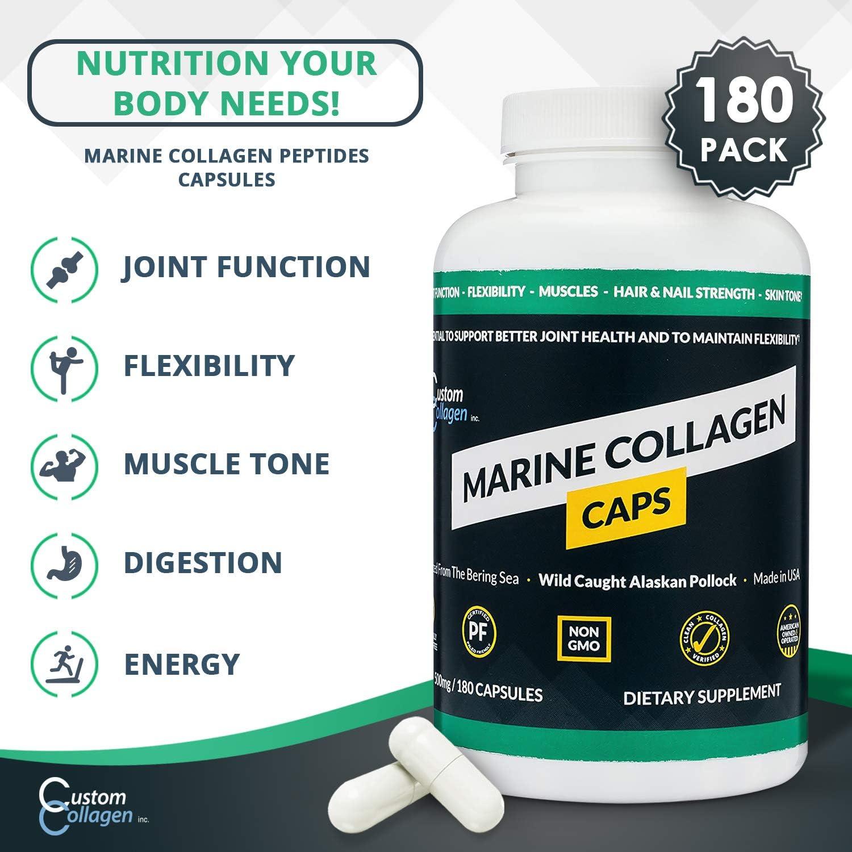 35/% OFF Kosher Pure Marine Collagen 1000mg 180 Capsules X2 Packs 360 Capsules