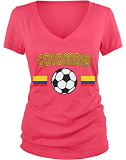 d4e8604f118 Amazon.com  nobrand Colombia Women s Flag National Pride Woman ...