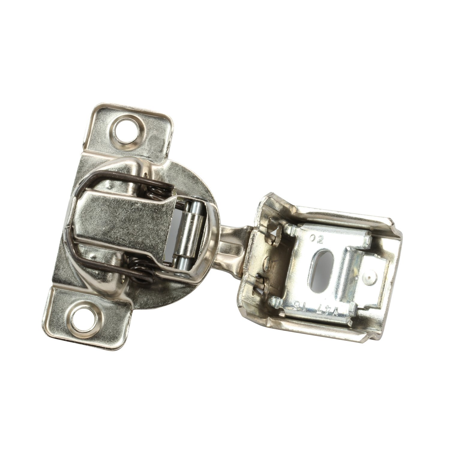 25 Pack Rok Hardware Grass TEC 864 108 Degree 1-1/4'' Overlay 3 Level Soft Close Screw On Compact Cabinet Hinge 04547A-15 3-Way Adjustment 45mm Boring Pattern