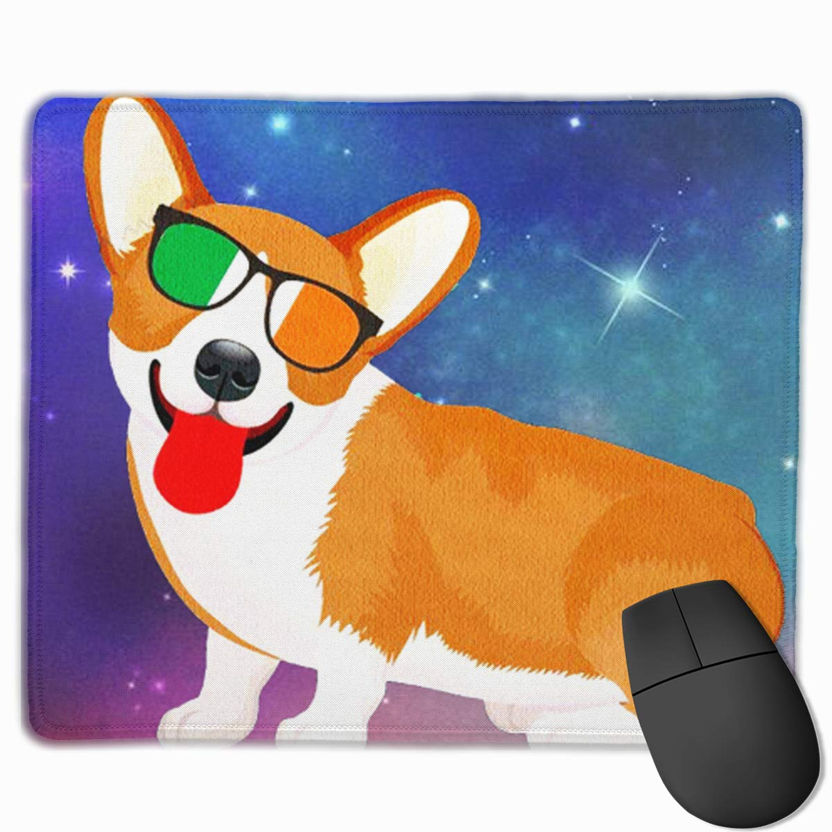 かわいいマウスパッド デザイン付き 面白い フレンチブルドッグ ヨガ エグゼール コンピュータ用 11.8x9.8x0.09インチ 11.8x9.8x0.09 B07LBLPBZ1 色3 11.8x9.8x0.09 11.8x9.8x0.09 色3