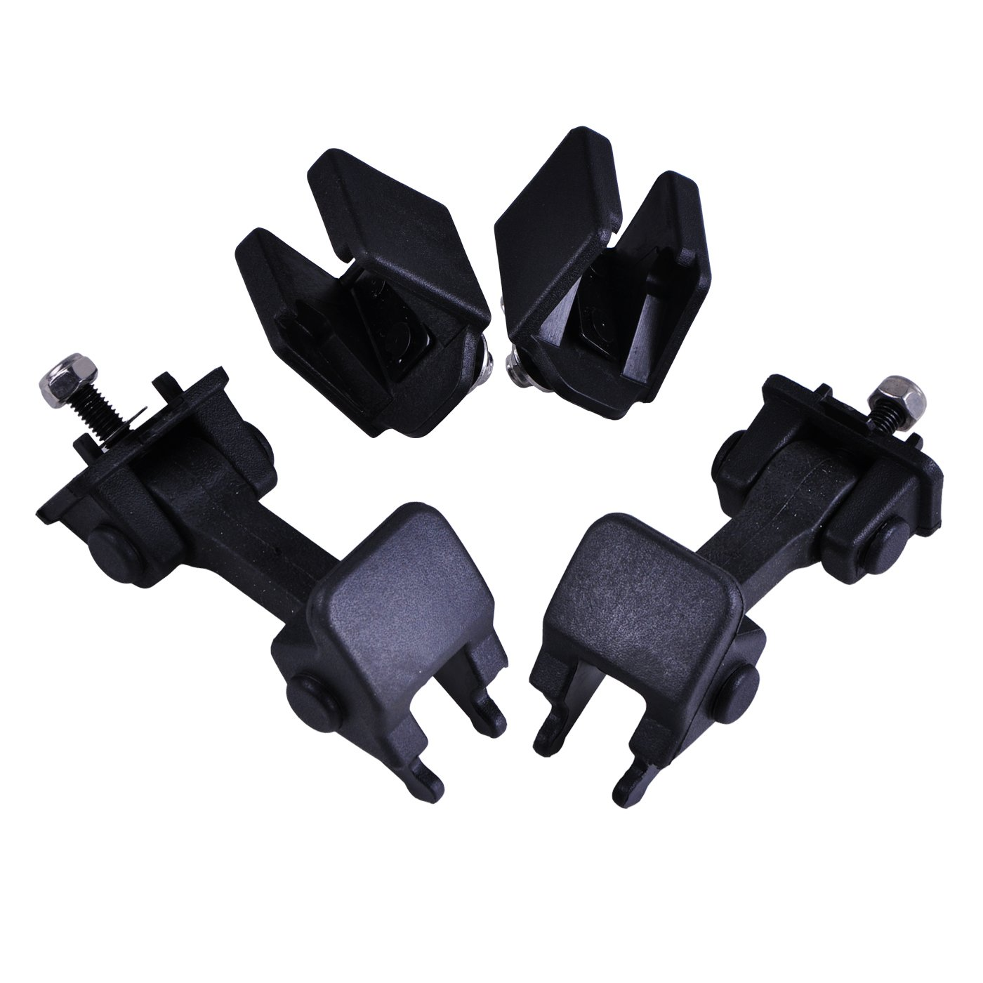 omotor Black ABS Hood Cover Latches Catch Set Kit for 1997-2006 Jeep Wrangler TJ