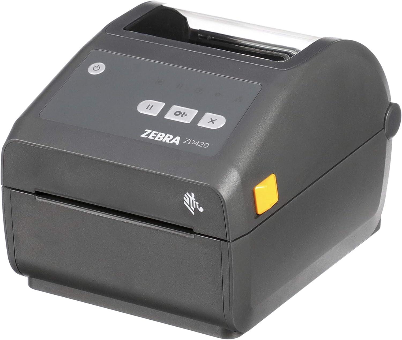 Zebra ZD420d Direct Thermal Desktop Printer 203 dpi Print Width 4 in USB ZD42042-D01000EZ