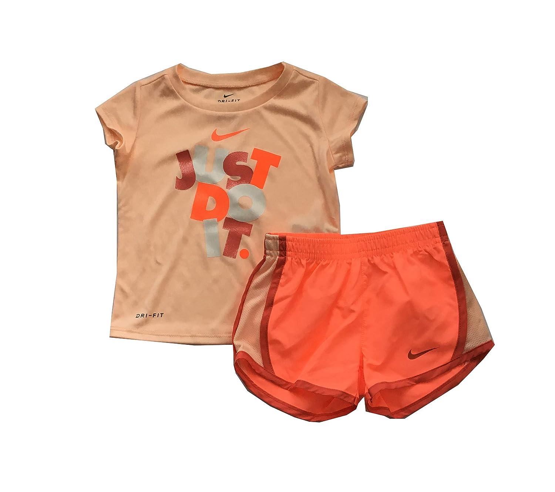 Amazon Com Nike Infant Girls Just Do It T Shirt And Shorts Set