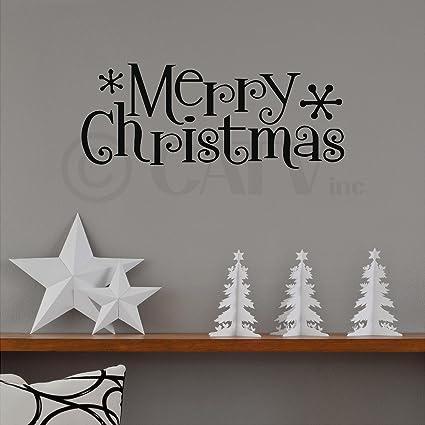 Amazon Com Merry Christmas Wall Saying Vinyl Lettering Home Decor