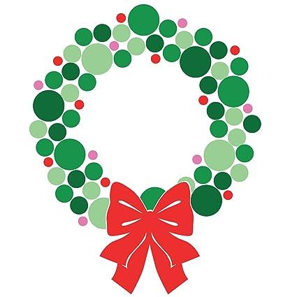 Christmas wreath modern. Amazon com holidays vinyl
