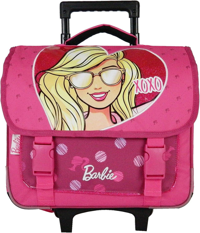 Bagtrotter BARNI18XOXO Barbie XOXO - Carrito escolar (38 x 14 x 33 cm), color rosa