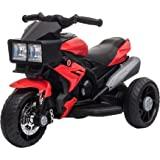 Aosom Kids Electric Pedal Motorcycle Ride-On Toy 6V Battery Powered w/ Music Horn Headlights Motorbike for Girls Boy 3-8…