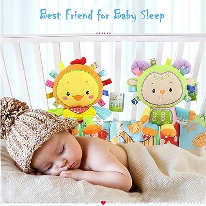 Inchant mono Taggie Manta Actividad y sensoriales juguete regalos del bebé para recién nacidos bebé, niño, Lovey Juguete suave - almeja y el juego a su bebé ...
