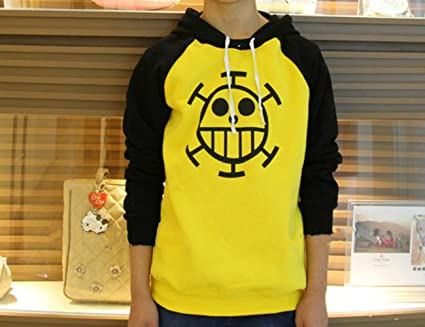 a805aa56225 Hot One Piece Trafalgar Law Cosplay Clothes Sweater Costume Hoodie (S)