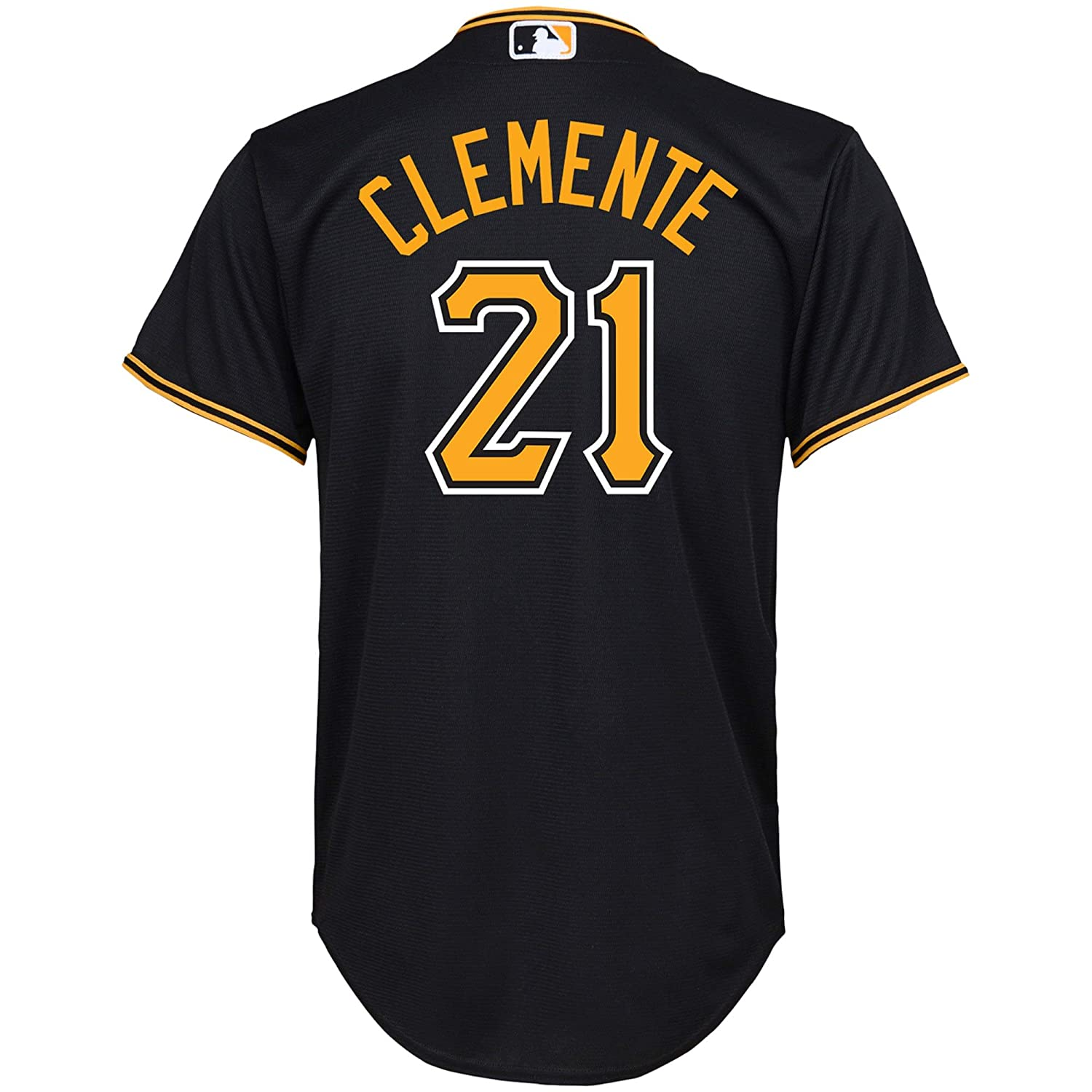 Outerstuff Roberto Clemente Pittsburgh Pirates Black Youth Cool Base Alternate Replica Jersey