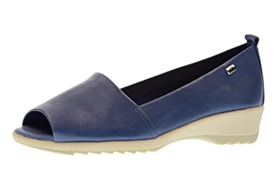 Shoes Woman Moccasin Popped 41141 Blu