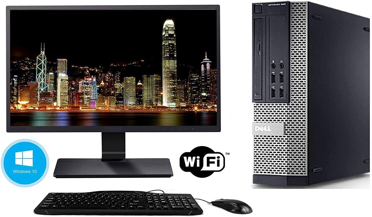 8 GB RAM Keyboard /& Mouse Renewed Brands Vary Windows 10 Pro, Dell Optiplex 990 Desktop PC New 1 TB HDD 17 LCD Monitor Intel Core i5 3.1 GHz WiFi DVD