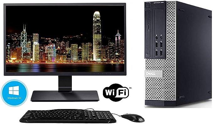 Dell Optiplex 990 Desktop Computer Package - Intel Quad Core i5 3.1-GHz, 16GB RAM, 2 TB, DVD-RW Drive, 20 Inch LCD Monitor, Keyboard, Mouse, WiFi, Bluetooth, Windows 10 (Renewed) | Amazon