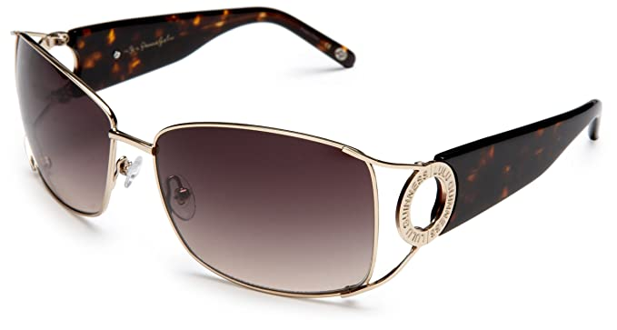 Lulu Guinness Women\'s Ivy Sunglasses,Gold Frame/Brown Lens,one size ...