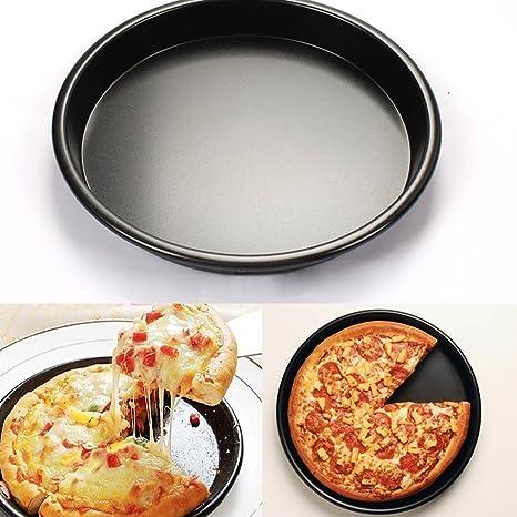 Goodplan DIY Backenwerkzeuge Aluminiumlegierung Pizza Backblech Runde Form Pizza Backform K/üche Liefert f/ür DIY Machen Verwendung 1 St/ücke Schwarz