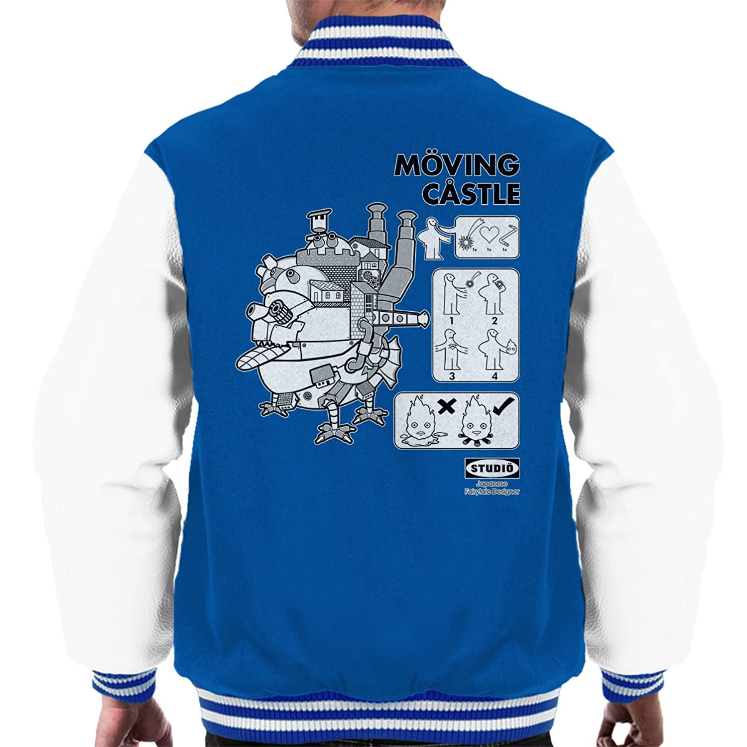 Studio Ghibli Ikea Howls Moving Castle Men's Varsity Jacket