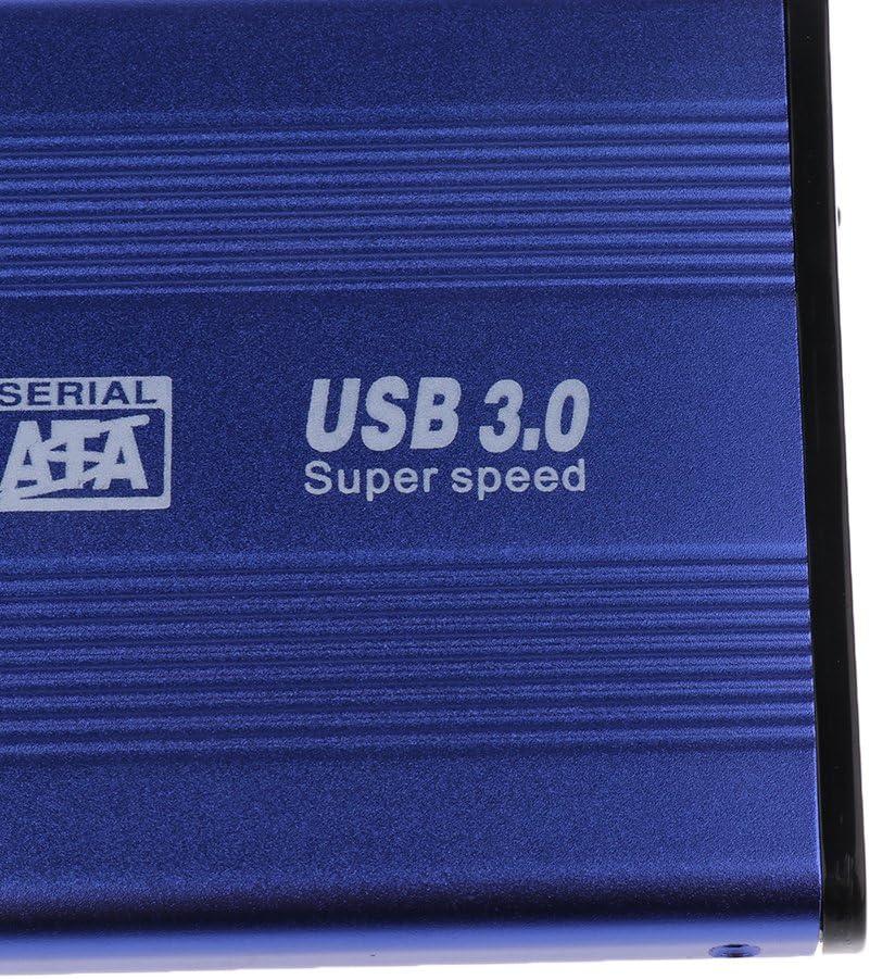 Portable 2.5 USB 3.0 5Gbps SATA HDD Hard Drive External Enclosure Case Blue