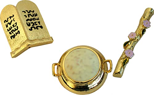 Holy Land Market Ark of The Covenant – Contents – Aaron Rod Manna Vessel Tablets 4 Inches