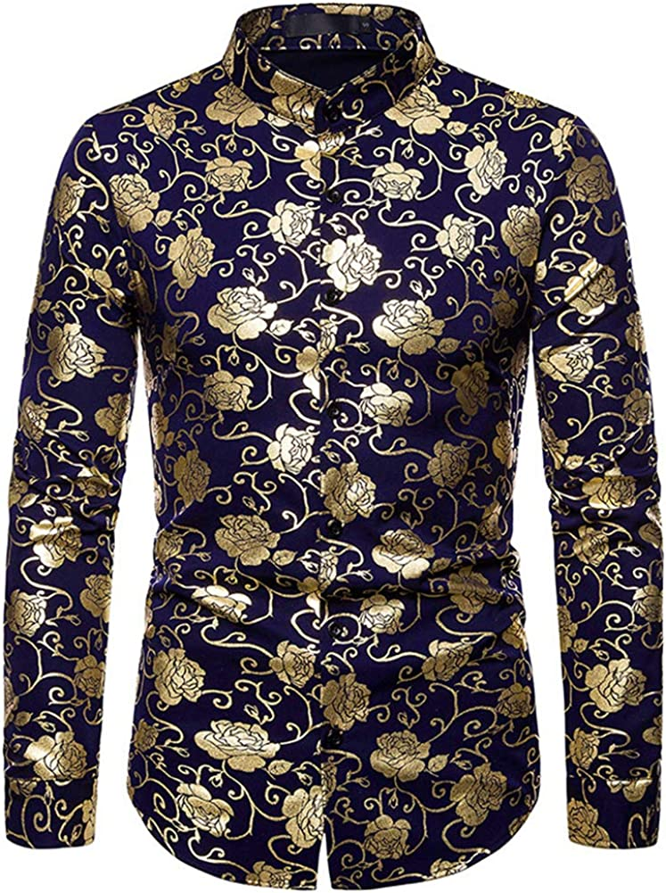 Mr.BaoLong&Miss.GO Camisa De Cuello Henley para Hombre Camisa ...