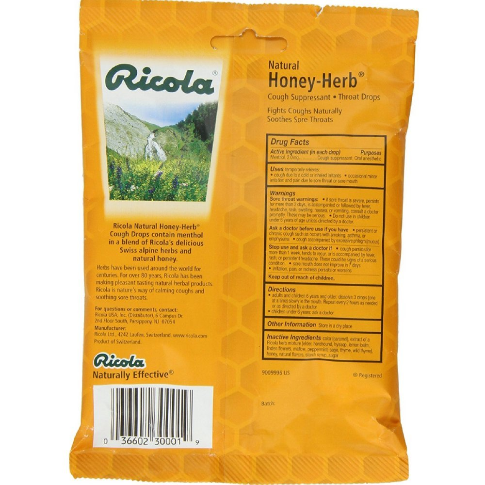 Cough Drops - Honey Herb - 24 - Lozenge ( Value Bulk Multi-pack)