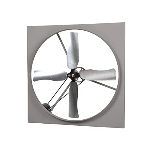 TPI CE48B3 48 Aluminum BladeCommercial Belt-Drive Exhaust Fan 1 HP 230 460V, 3PH, 3.8A Motor 54 H x 54 W Steel Housing