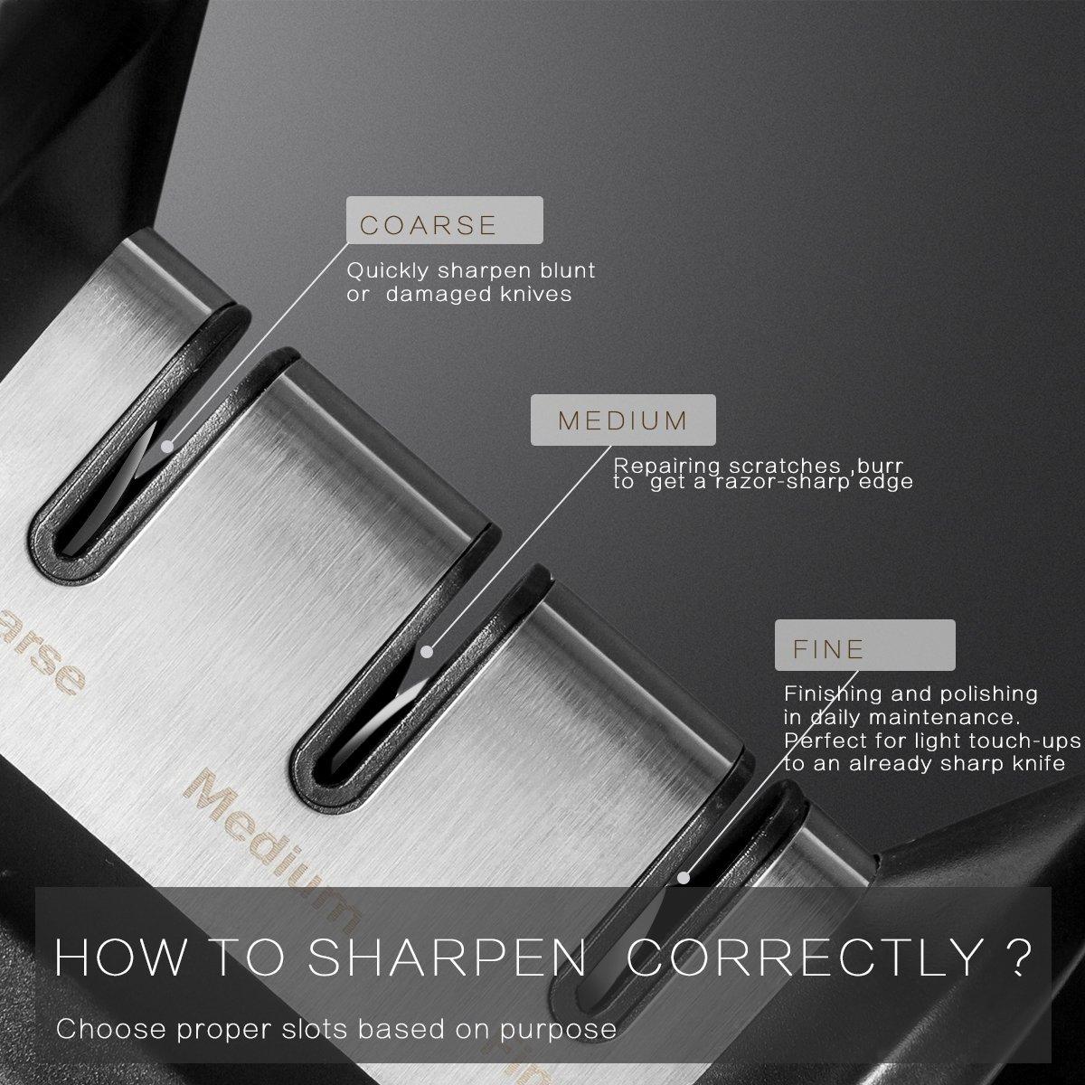 CLE Kitchen Knife Sharpener, Black