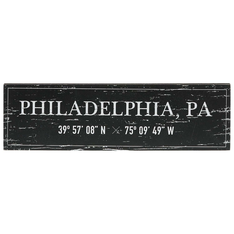 "Barnyard Designs Philadelphia, PA City Sign Rustic Vintage Wood Wall Art Home Decor 17"" x 5"""