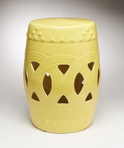 Captivating Ceramic Garden Stools Aa Importing 59919 Yl Yellow Finish Ceramic Garden  Stool 12 X 18