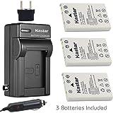 Kastar Battery 3-Pack + Charger Kit for Nikon EN-EL5, Nikon MH-61 work with Nikon Coolpix 3700, 4200, 5200, 5900, 7900, P3, P4, P80, P90, P100, P500, P510, P520, P530, P5000, P5100, P6000, S10 Cameras