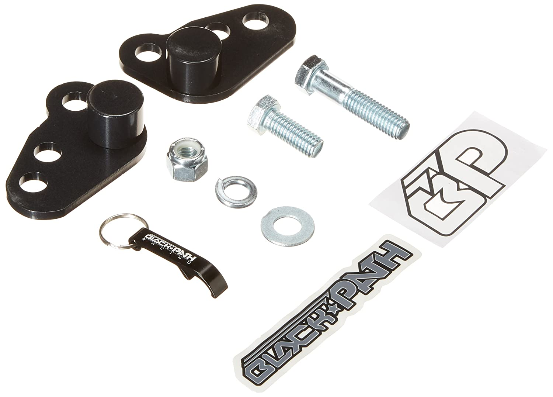 BlackPath - Harley-Davidson 1' or 2' Adjustable Lowering Kit Road King Motorcycle Drop Kit (Black) T6 Billet Black Path