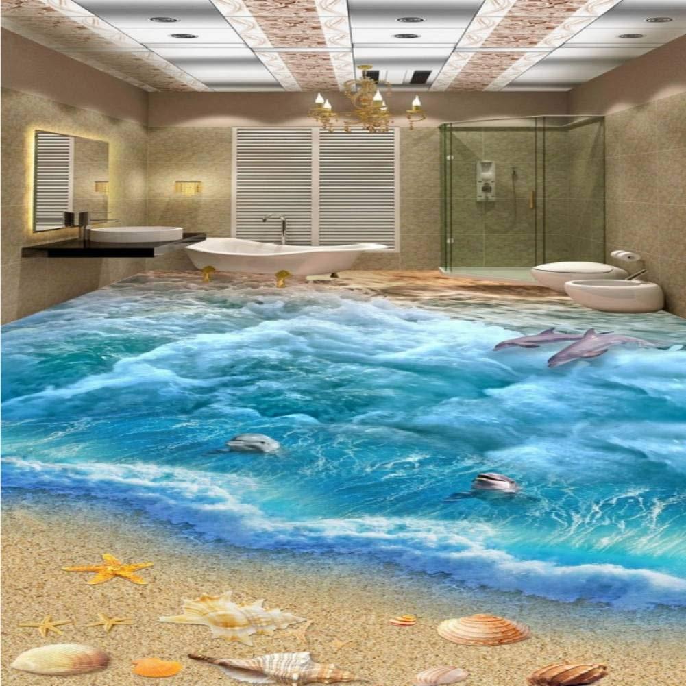 oferta especial 400x280cm YYBHTM Estéreo 3D Personalizado Personalizado Personalizado Mar Mundo Piso Pintura Sala De EEstrella Dormitorio Estudio Estudio Mural  protección post-venta