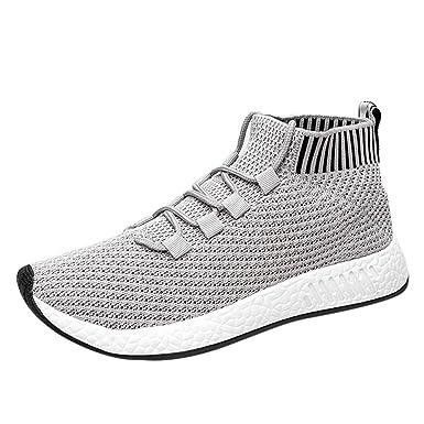 ZODOF Zapatillas de para Deporte Running Hombres Correr Zapatos Aire Libre Casual Deportivas Gimnasio Malla Entrenamiento Sneakers: Amazon.es: Ropa y ...
